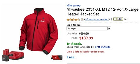 Milwaukee heated jacket hotdeal