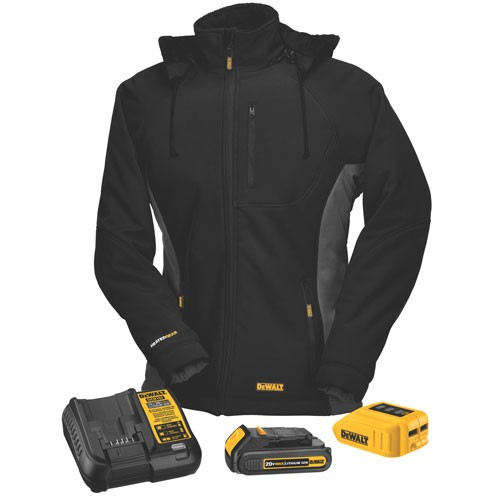 new heated jacket hoodie and vest styles from dewalt. Black Bedroom Furniture Sets. Home Design Ideas