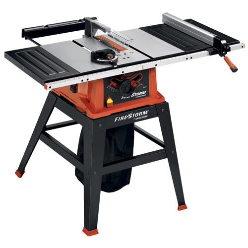 Power tools firestorm 10 inch 15 amp table saw with stand for 10 inch table saw blade reviews