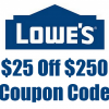 $25 off $250 lowe's coupon code