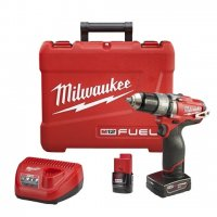 "Milwaukee M12 FUEL 1/2"" Hammer Drill/Driver Kit - 2404-22"