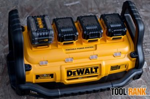 DeWalt DCB1800 Portable Power Station and Parallel Battery Charger