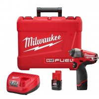"Milwaukee M12 FUEL 1/4"" Impact Wrench Kit - 2452-22"