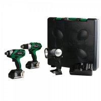 Hitachi 18-Volt Lithium-Ion 2-Tool Combo Kit - KC18DHL