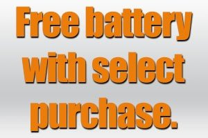 Free Bosch or Milwaukee battery promotion