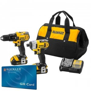 DeWalt 20V Max Drill & Impact Kit + $150 Gift Card