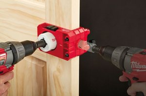 Milwaukee Auto-Centering Door Lock Drill Guide Kit