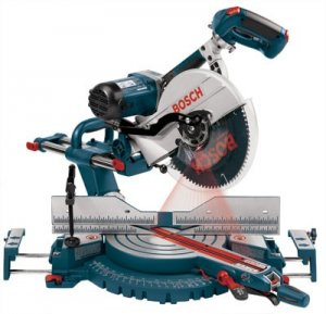 "Bosch 5412L 12"" Dual-Bevel Slide Miter Saw with Upfront Controls"