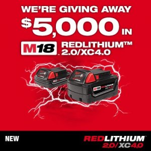 Milwaukee M18 Battery Giveaway
