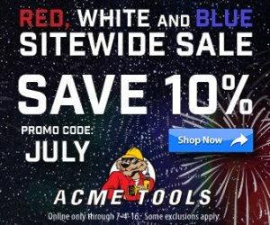 ACME Tools 4th Of July Sale