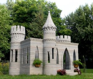 world first 3d printed concrete castle