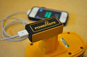 PoweriSite USB Power Source For DeWalt Pod-Style Batteries