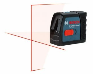 New Bosch GLL 2-15 Compact Cross-Line Laser Level