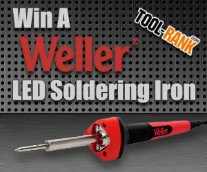 toolrank giveaway enter to win a weller led soldering iron tool. Black Bedroom Furniture Sets. Home Design Ideas