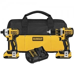 Save $90 on the DEWALT DCK281D2 20V Brushless Compact Drill & Impact Combo Kit