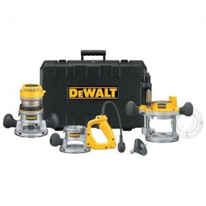 Dewalt DW618B3E 2 1/4 Hp 3 base router set