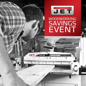15% OFF JET WOODWORKING MACHINES AND ACCESSORIES