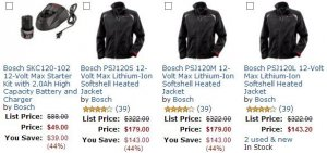 Hot Deal: Free Battery & Charger With Bosch Heated Jacket Purchase
