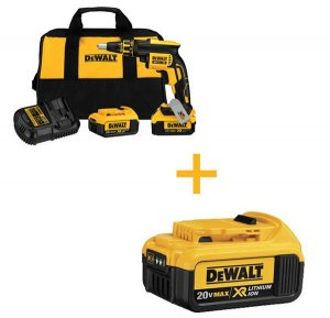 FREE BATTERY WITH DEWALT BRUSHLESS SCREWGUN KIT PURCHASE