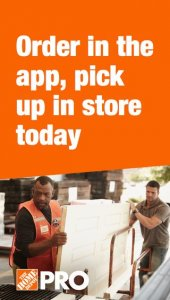 $10 off $75 in-app purchase at Home Depot