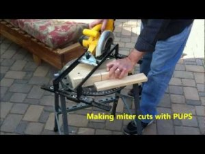 PUPS: Convert your circular saw into a miter saw - Made in USA