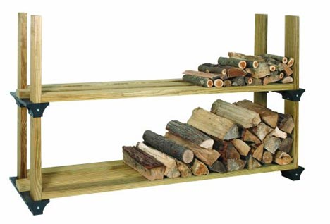 2x4basics firewood rack double
