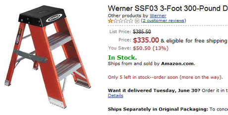 335 dollar ladder