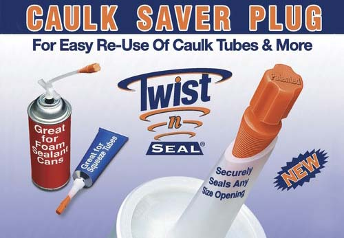 caulk saver plug