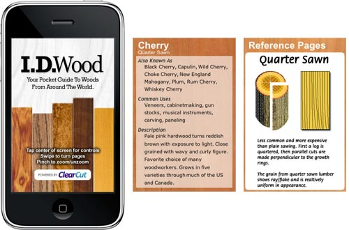 I.D wood iphone app