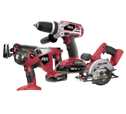 SKIL 4 piece lithium ion cordless kit