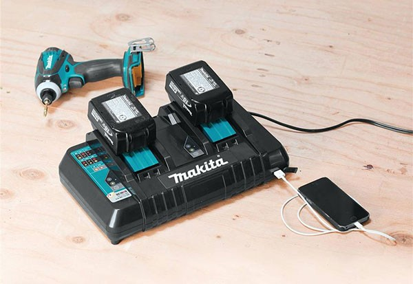 New Makita 18v Lithium Ion Dual Port Charger Dc18rd