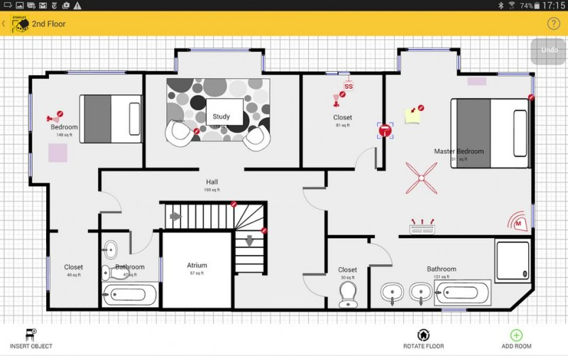 Stanley introduces tlm99s laser distance measurer with for Floor plan drawing apps