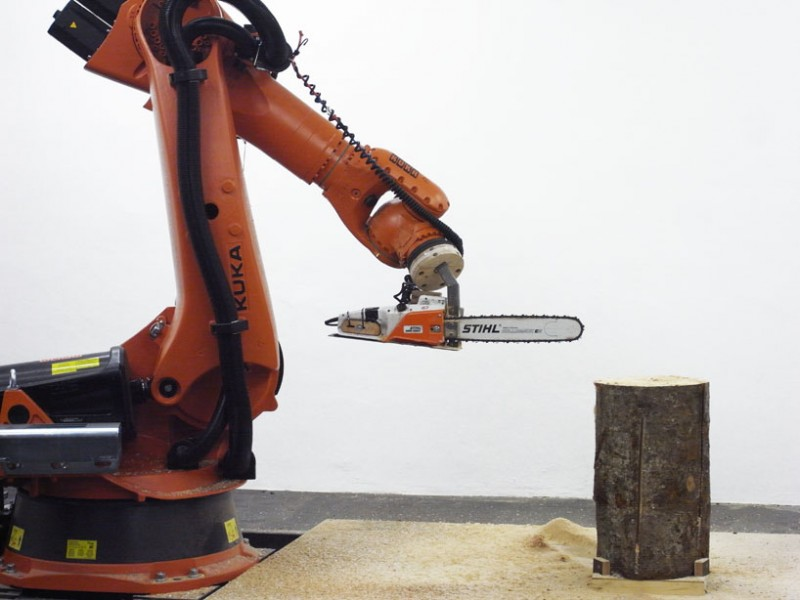 When a robot picks up chainsaw we get furniture tool
