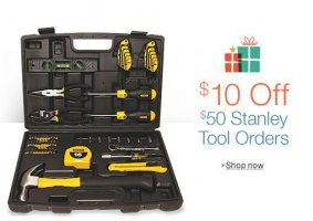 $10 Off Select $50 STANLEY Tool Orders