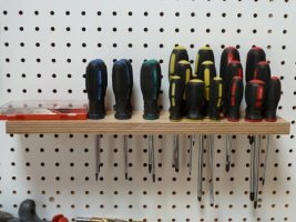 Quick Tip: Homemade Pegboard Screwdriver Holder