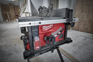 Breakthrough Milwaukee M18 FUEL Cordless Tablesaw Uses One 18V Battery