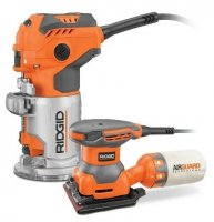 Ridgid Trim Router And 1/4-Sheet Sander Only $99 At HomeDepot.com