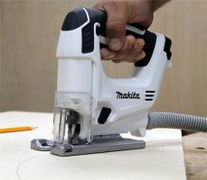 Makita VJ01W jigsaw with hose