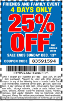 Harbor Freight 25% Off Coupon Code