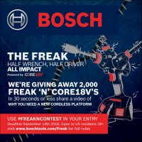 Bosch's Insane 2,000 Cordless Tool Giveaway