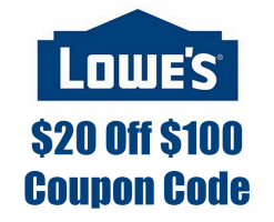 $20 off $100 Lowe's Coupon Code