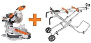 Hot Deal: Ridgid 12-inch Sliding Compound Miter Saw Plus Stand