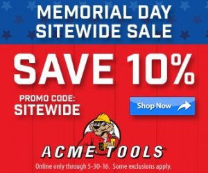 ACME Memorial Day Sale 2016