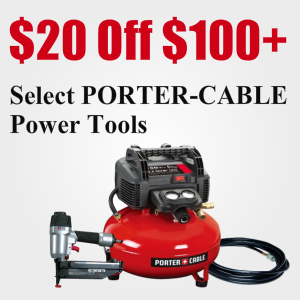 $20 Off $100+ Purchase Of Select Porter-Cable Tools @ Amazon