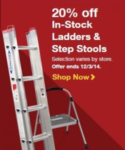 20% Off In-Stock Ladders & Step Stools at Lowe's