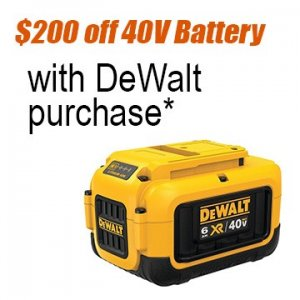 $200 off Dewalt battery