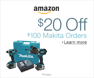 $20 OFF SELECT $100 MAKITA ORDERS @ AMAZON