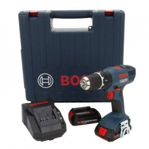 BOSCH 18-VOLT LITHIUM-ION COMPACT HAMMER DRILL W/ 2 SLIM PACK BATTERIES $99 @ HD
