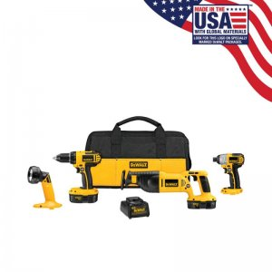 DEWALT 4-Tool 18-Volt NiCd Cordless Combo Kit with Soft Case $200 @ Lowe's