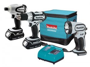 Makita 18V Compact Lithium-Ion 3-Pc. Combo Kit - LCT300W